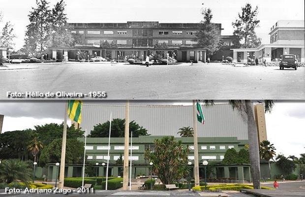 Comparativo Palácio das Esmeraldas para o aniversário de Goiânia (Foto: Adriano Zago - Hélio de Oliveira)