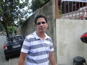Daniel Fraga esqueceu documento e perdeu prova (Foto: Tatiana Dourado/G1BA)