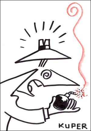 Desenho da série 'Spy vs. Spy' feito com exclusividade para o G1 (Foto: Reprodução)