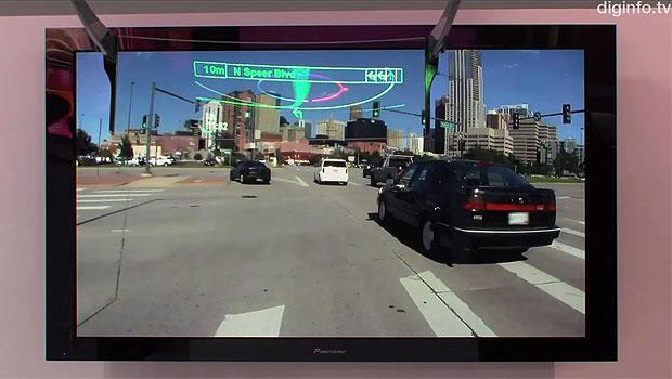 Novo GPS mostra instruções em cima do cenário real (Foto: Reprodução/DigInfo TV)
