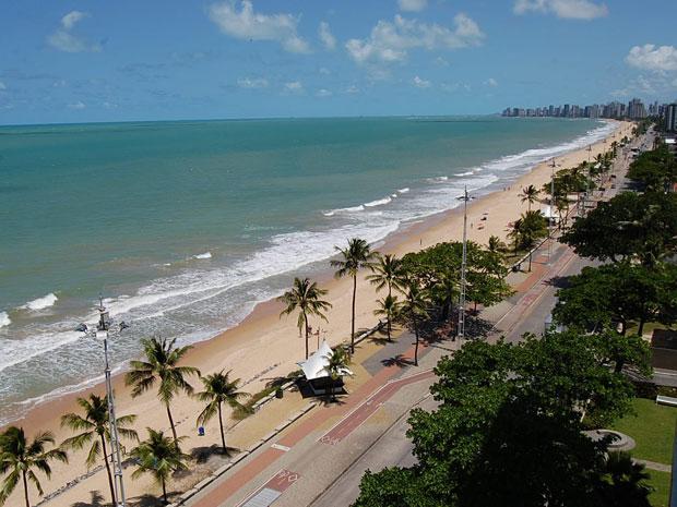 Praia de Boa Viagem (Foto: Vanessa Bahé/ G1)