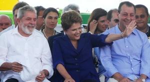 Dilma inaugura ponte e anuncia prorrogação da ZFM (Foto: Carlos Eduardo Matos/G1)