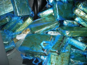 58 Kilos of crack cocaine was hidden under the back seat of the car.