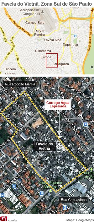 Moradores terão de ser retirados de favela (Foto: Arte/G1)