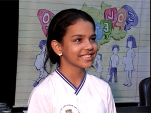 Estudante Iasmim da Silva se classifica no soletrando na PB (Foto: Reprodução/TV Cabo Branco)