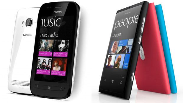 Smartphones Nokia Lumia 800 e Lumia 710 têm tela de 3,7 polegadas (Foto: Divulgação)