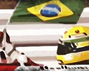 Ilustração de game de Ayrton Senna feito por estúdio brasileiro (Foto: Divulgação/Reiza Studios)
