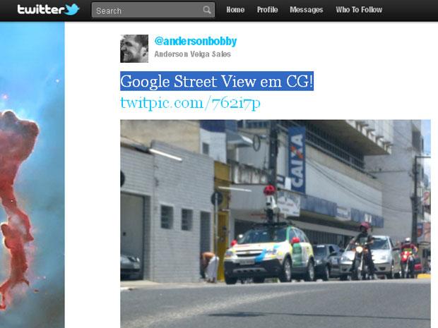 Carro do Google Street View está na Paraíba (Foto: Arquivo pessoal)