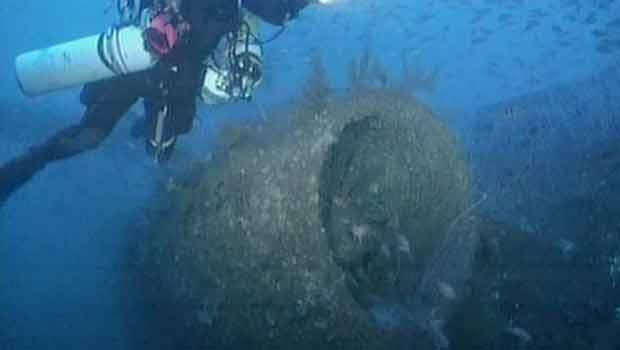 Mergulhadores acham destroços de avião 34 anos depois de acidente (Foto: BBC)