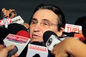 O presidente do PC do B, Renato Rabelo, na Câmara dos Deputados nesta quarta (26) (Foto: Agência Câmara)