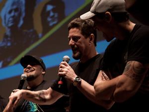 A banda Raimundos, que toca no SWU, anuncia as novas atrações do festival (Foto: Caio Kenji/G1)