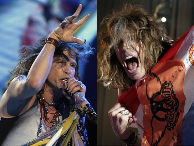 Steven Tyler, líder do Aerosmith, se apresenta no Paraguai nesta quarta-feira (26), após acidente em quarto de hotel (Foto: Reuters)
