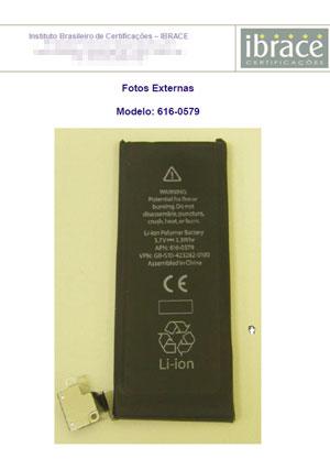 Documento da Anatel mostra bateria do novo iPhone 4S (Foto: Reprodução)