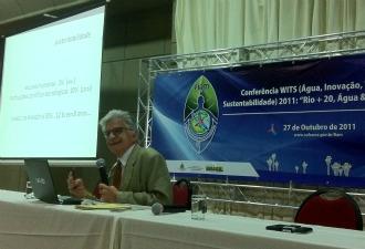 Diretor-geral do Museu da Amazônia, Dr. Ennio Candotti, participa da WITS Conference em Manaus (Foto: Marina Souza/G1)