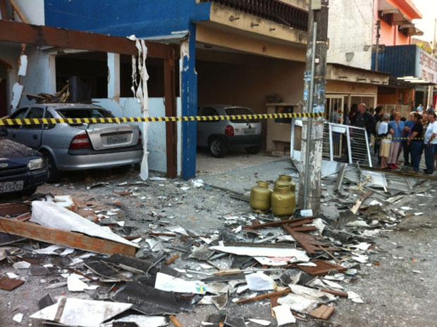 Explosão por vazamento de gás em casa no ABC deixa feridos, diz delegado (Foto: Polícia Civil/ Divulgação)