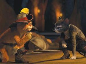 Cena do 'Gato de botas' (Foto: Divulgação)