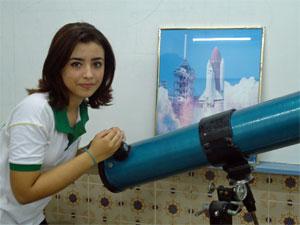 Larissa é a única pernambucana participando da seleção para as Olimpiadas Internacionais de Astronomia (Foto: Divulgação / IFPE)