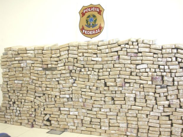 756 kilos of marijuana record seizure made by Brazilian Federal Police in the state of Espirito Santo on Friday 28 October 2011