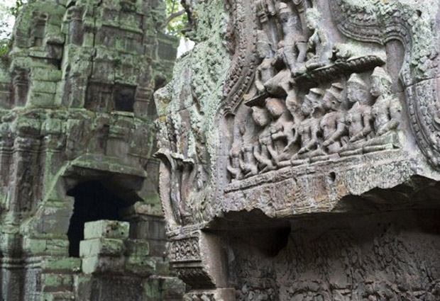 Imagem de arquivo do templo Ta Prohm, no complexo Angkor Wat, no Camboja (Foto: AFP/Arquivo)