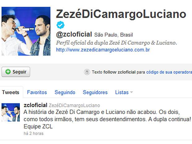 Zezé di Camargo e Luciano (Foto: Reprodução / Twitter)