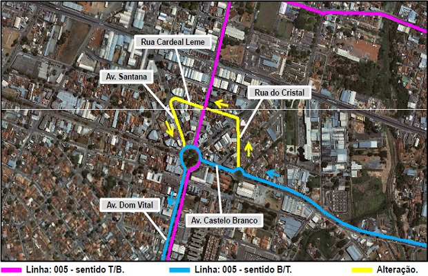 Linha 005 - T. Bandeiras / Campinas – Eixo Pio XII (Foto: Divulgação/CMTC)