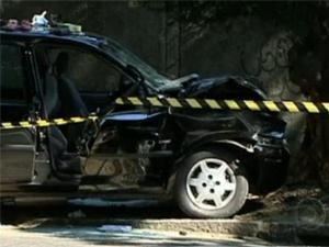 Acidente em Jacarepaguá (Foto: Reprodução/TV Globo)