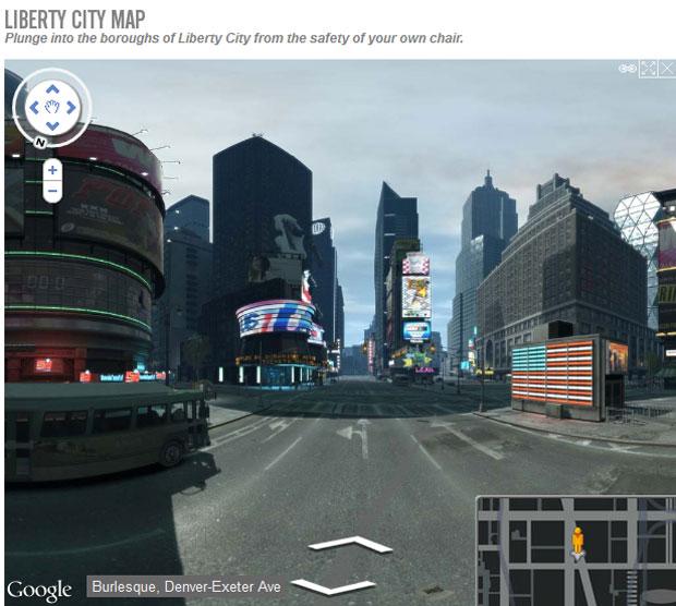 Site criou 'Street View' para o game 'GTA IV' (Foto: Reprodução)