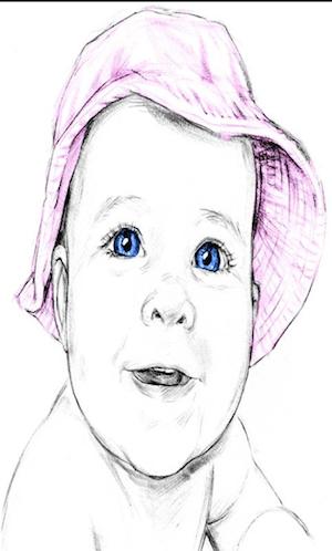 Gravura criada usando o aplicativo Sketch n Draw  (Foto: Divulgação)
