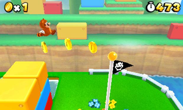 Imagens em 3D do portátil da Nintendo fazem com que jogador tenha maior precisão nos saltos de Mario (Foto: Divulgação)