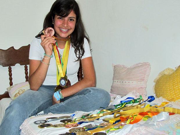 Tábata Amaral, de 17 anos, participa de olimpíadas estudantis desde os 12 (Foto: Vanessa Fajardo/G1)