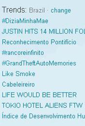 Trending Topics no Brasil às 12h24 (Foto: Reprodução)