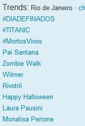 Trending Topics no Rio às 12h07 (Foto: Reprodução)