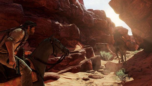 'Uncharted 3' traz belo visual com bons efeitos de luz e fumaça. O destaque fica por conta da fase no deserto (Foto: Divulgação)