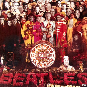 Capa alterada de 'Sgt. Pepper's Lonely Hearts Club Band' (Foto: Divulgação)