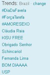Trending Topics no Brasil às 12h14 (Foto: Reprodução)