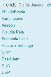 Trending Topics no Rio às 12h43 (Foto: Reprodução)