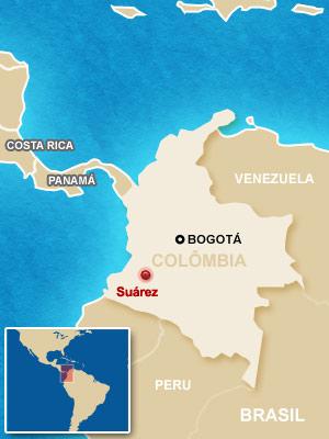 mapa colombia cano (Foto: Arte G1)