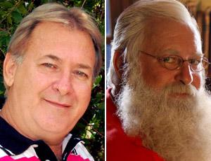 Jornalista deixa barba crescer para trabalhar como Papai Noel no fim do ano (Foto: Arquivo Pessoal/Fernando Mazzuco)