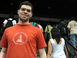 Evandro Souzto Carabino passou na Unesp no meio do ano mas decidiu prestar novamente (Foto: Flávio Moraes/G1)