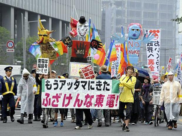Protesto antinuclear Japão (Foto: Toshifumi Kitamura/AFP)