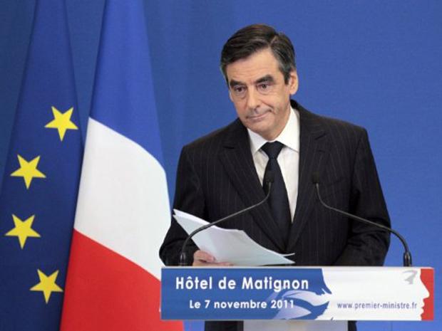 Primeiro-ministro francês François Fillon anuciada medidas de austeridade na França (Foto: AFP)