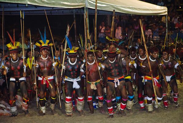 Abertura dos Jogos dos Povos Indígenas no Tocantins (Foto: Edison Bueno/Funai)