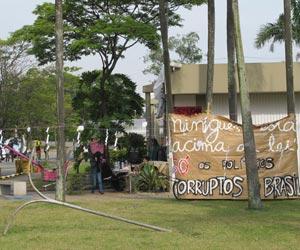 Invasão da reitoria da USP (Foto: Juliana Cardilli/G1)