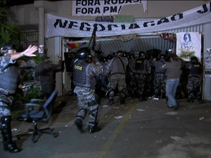 reintegração tropa de choque (Foto: Reprodução/TV Globo)