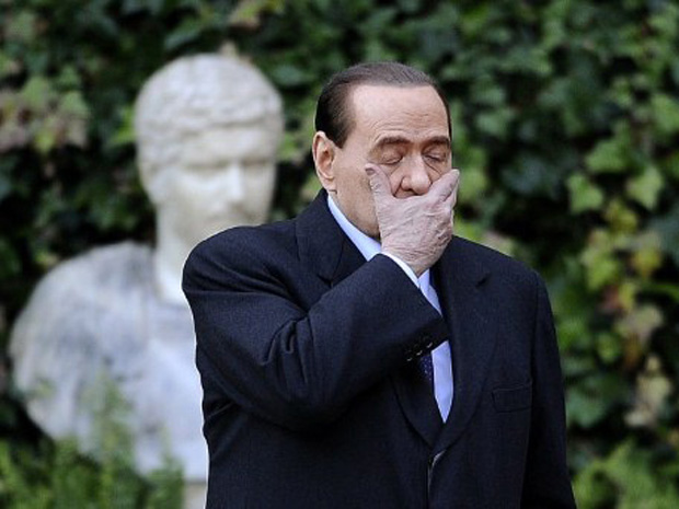 Primeiro-ministro italiano Silvio Berlusconi (Foto: AFP)