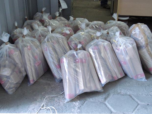 Apreensão de 340 quilos de maconha em Belo Horizonte (Foto: Divulgação/Polícia Federal)