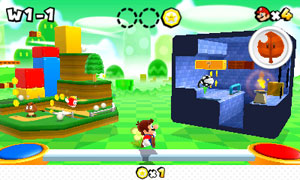 A tela de seleção de fases é uma mistura do visto em 'Super Mario Galaxy' com 'Super Mario Bros. 3' (Foto: Divulgação)