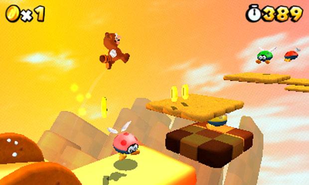 As imagens em 3D proporcionadas pelo Nintendo 3DS dão um ar de novidade para o game, que une elementos de outros jogos de Mario (Foto: Divulgação)