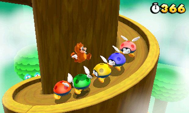 Roupa Tanooki ajuda Mario ao permitir que ele flutue por alguns instantes (Foto: Divulgação)