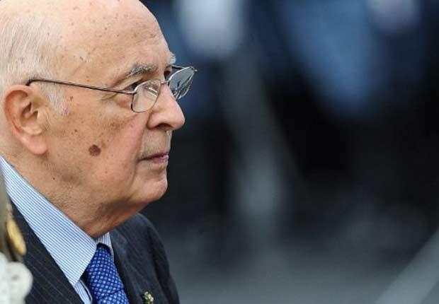 O presidente da Itália, Giorgio Napolitano, em 4 de novembro em Roma (Foto: Reuters)